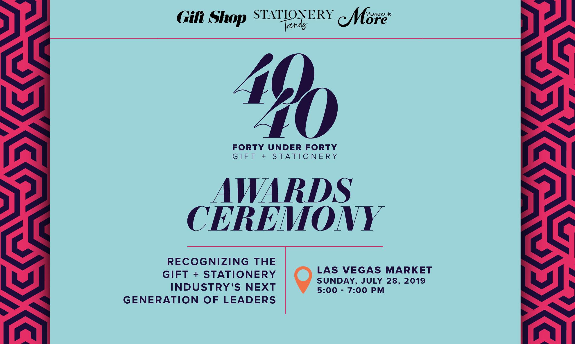 Gift + Stationery 40 Under 40 Awards Ceremony