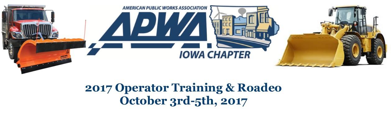 2017 APWA Operator Training & Roadeo