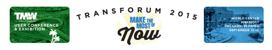 2015 TMW TransForum User Conference