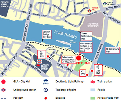 City hall map
