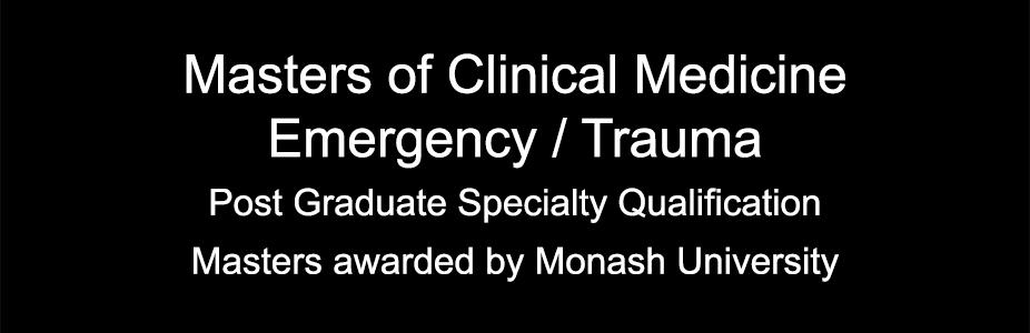 Master of Clinical Medicine - Emergency/Trauma
