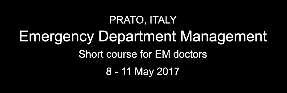 Emergency Department Management Course - PRATO, ITALY