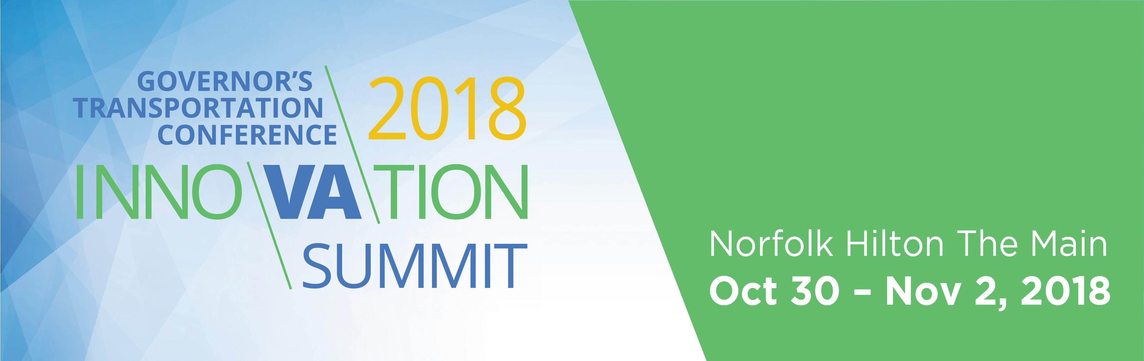 Governor's Transportation Conference/2018 Innovation Summit