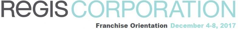 Franchise Orientation December 2017