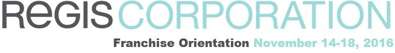 Franchise Orientation November 2016