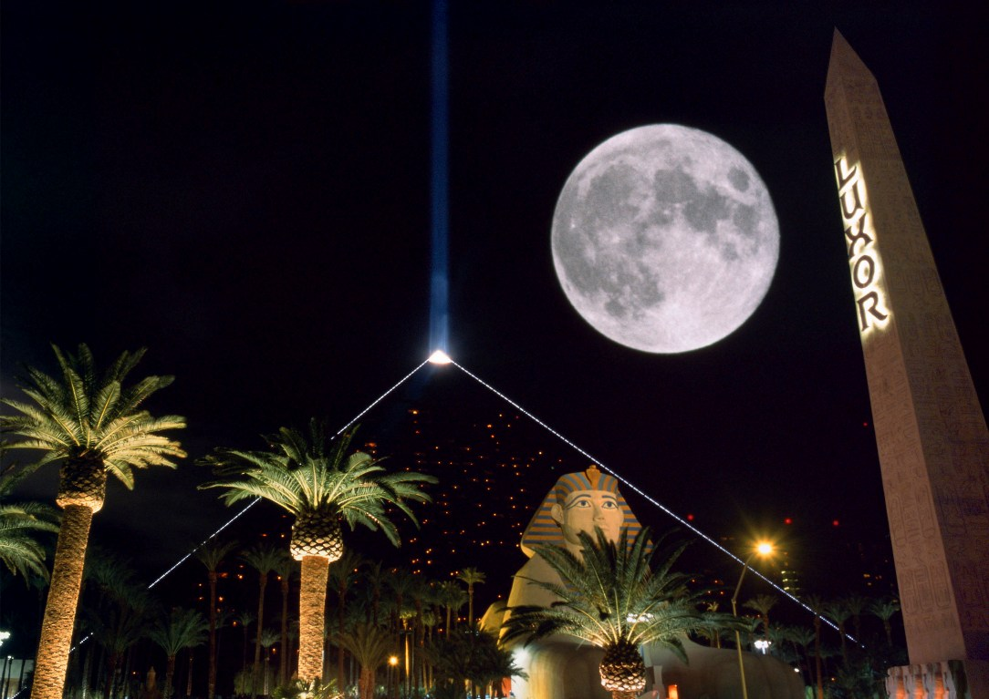 moon over luxor