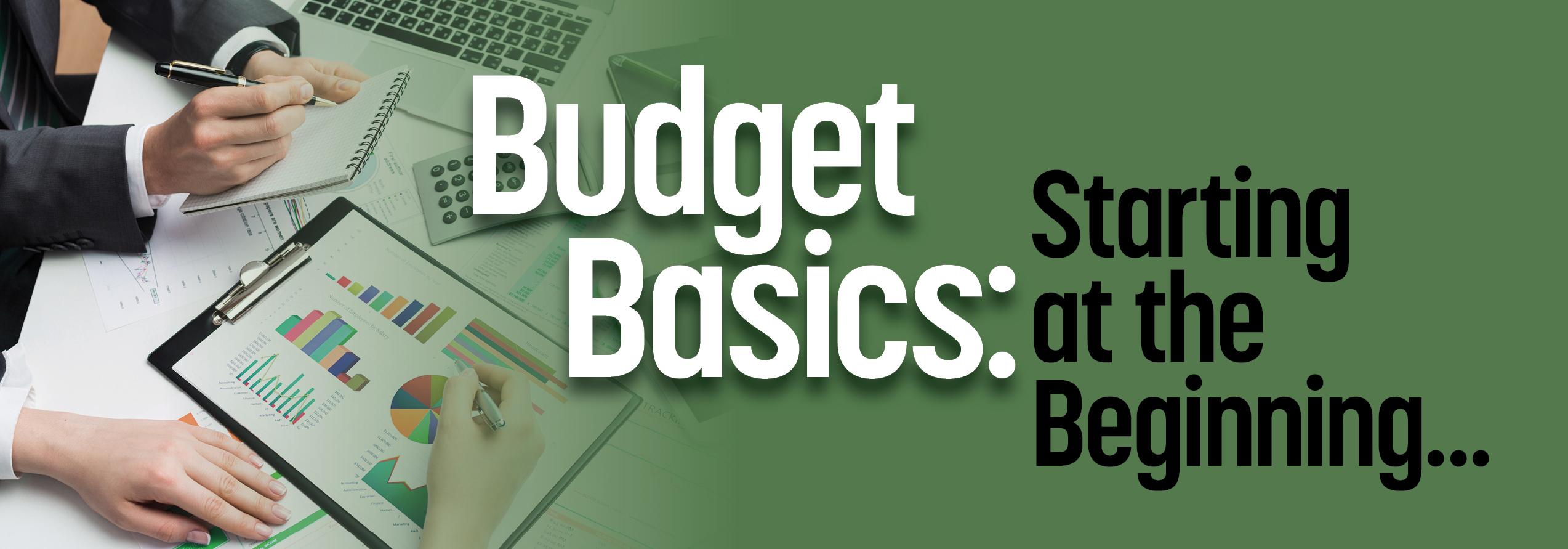 Budgeting Basics: Starting at the Beginning