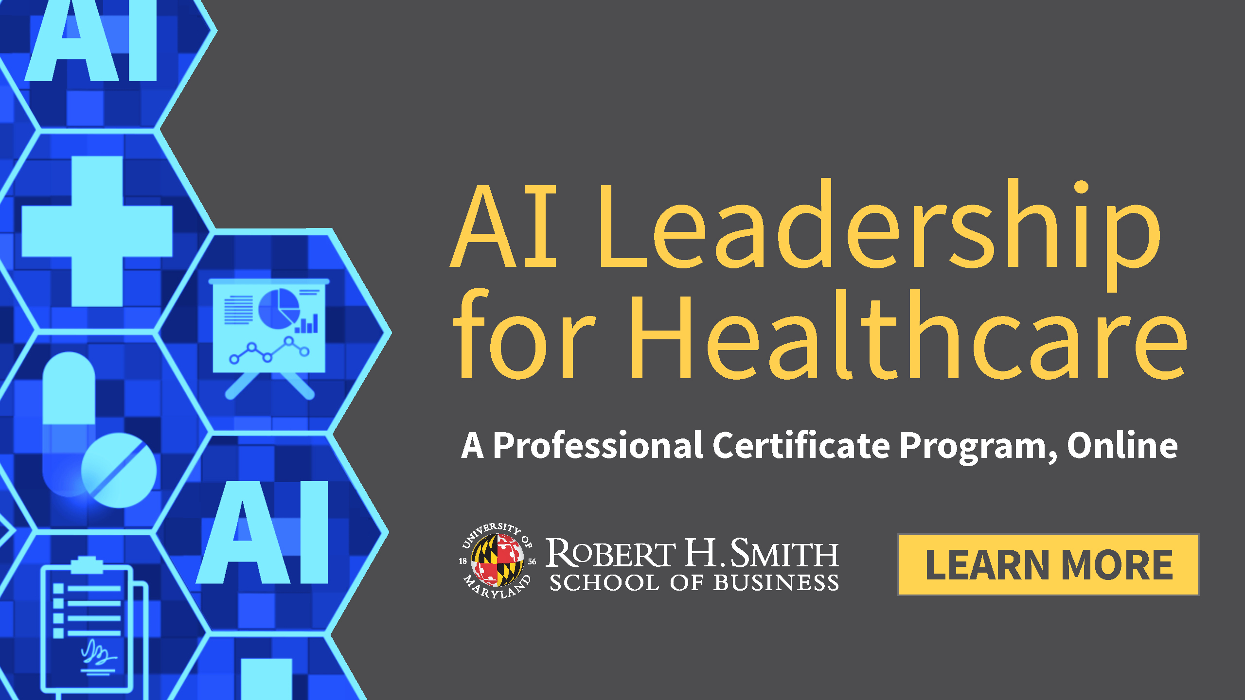 AI Leadership for Healthcare Professional Certificate Program promotional graphic