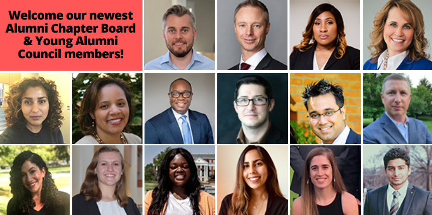 Alumni Chapter Board and Young Alumni Council new member headshot collage