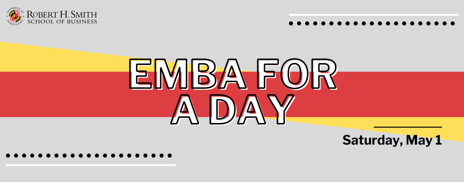 EMBA for a Day promotional graphic