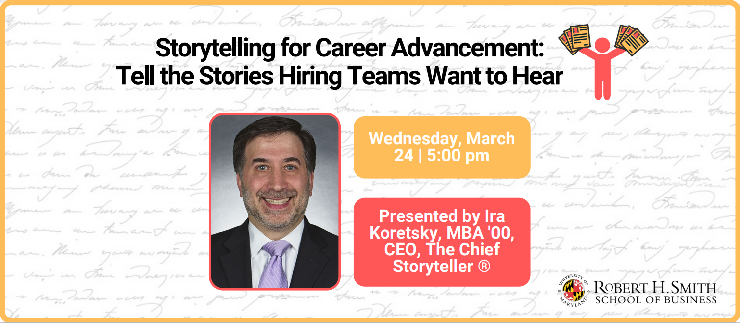 Storytelling for Career Advancement promotional graphic