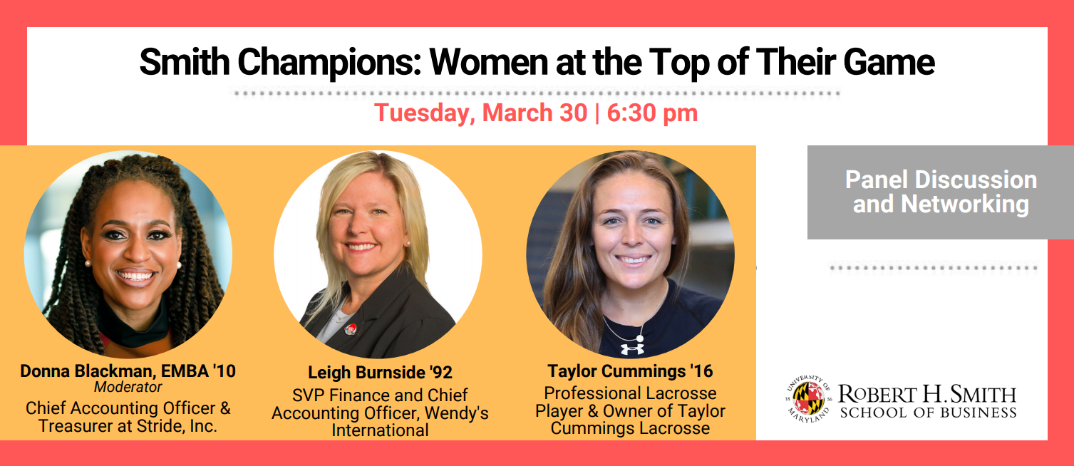 Smith Champions: Women at the Top of Their Game promotional graphic