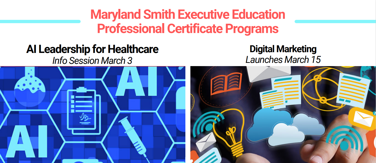 Executive Education Professional Certificate Programs promotional graphic