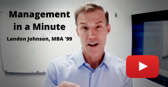 Screengrab from Landon Johnson's Management in a Minute video