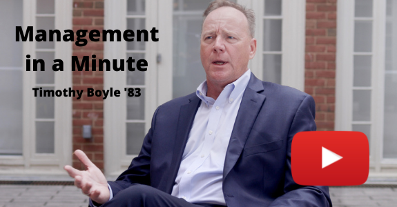 Tim Boyle Management in a Minute Video Image