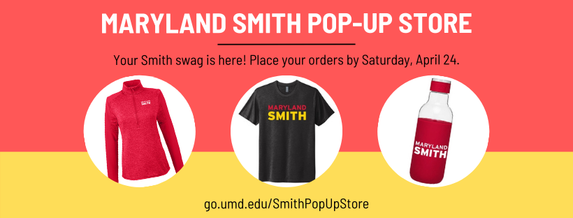 Maryland Smith Pop-Up Store promotional graphic