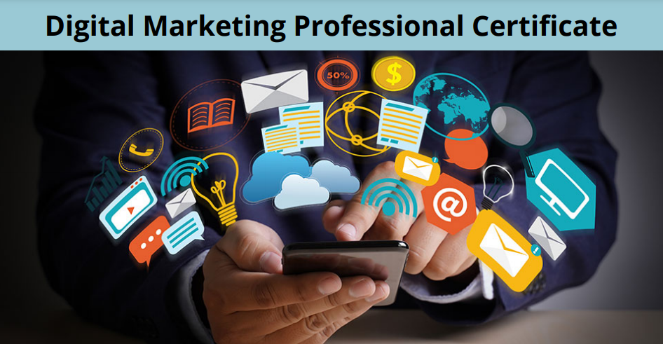 Digital Marketing Professional Certificate promotional graphic