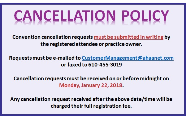 C 18 Cancellation Policy