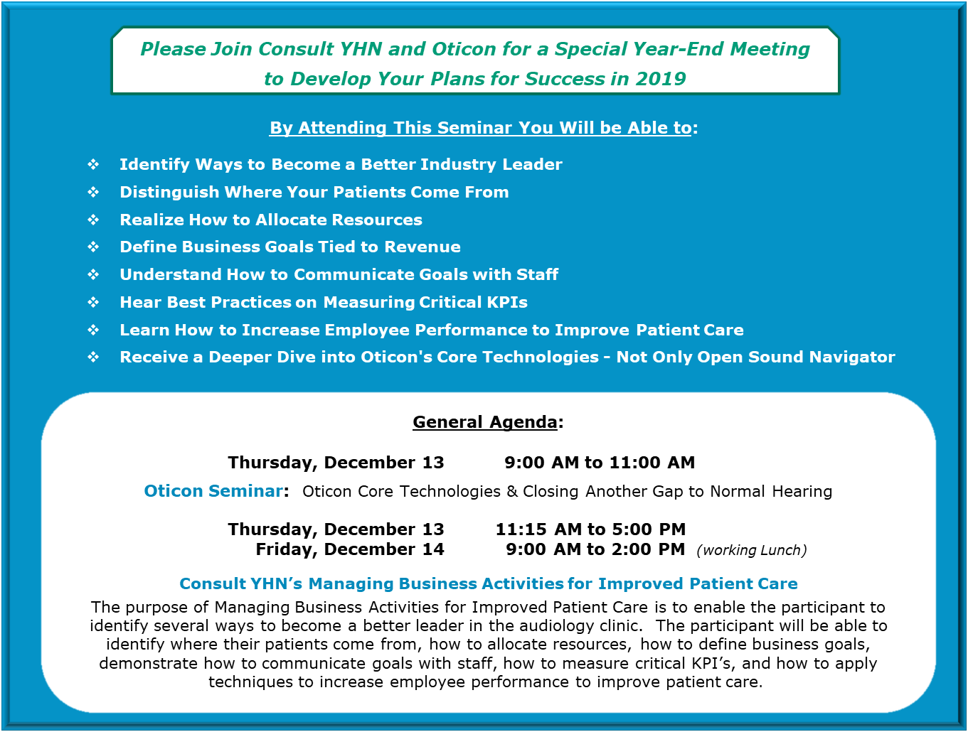 Special December MBA Info