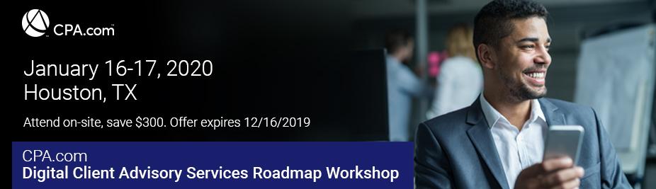 Digital Client Advisory Services Roadmap Workshop - January 2020