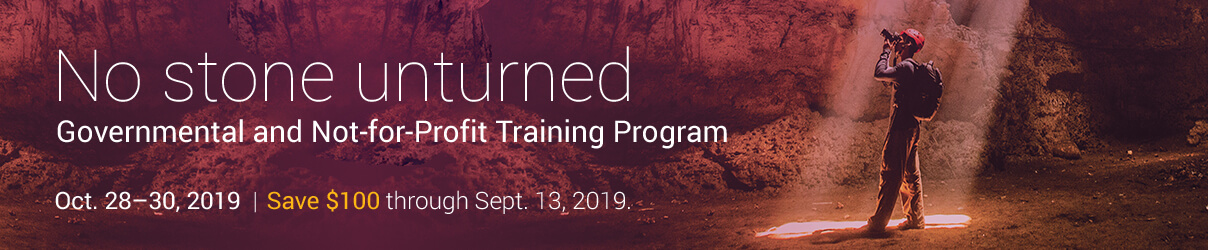 2019 Governmental and Not-for-Profit Training Program - Group Sales