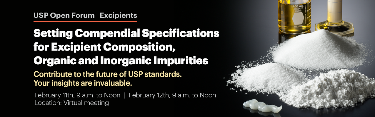 USP Open Forum - Excipients