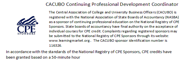 CACUBO CPE Statement