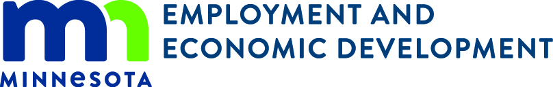 MN DEED Logo with Minnesota blue green