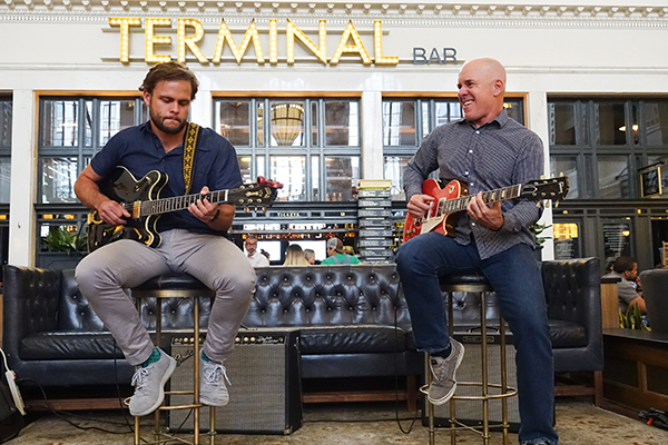 Guitarists play at Terminal Bar