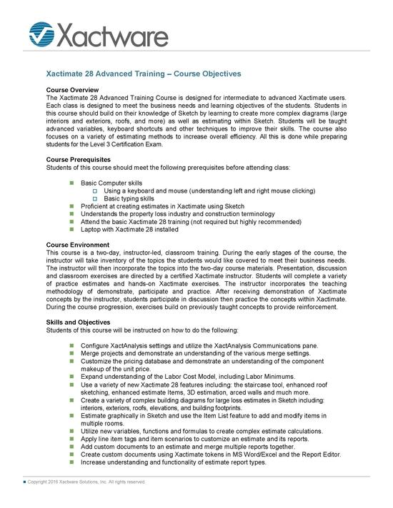 xactimate-advanced-classroom-training-course-summa