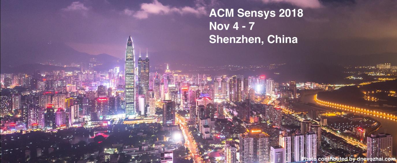 ACM SenSys 2018