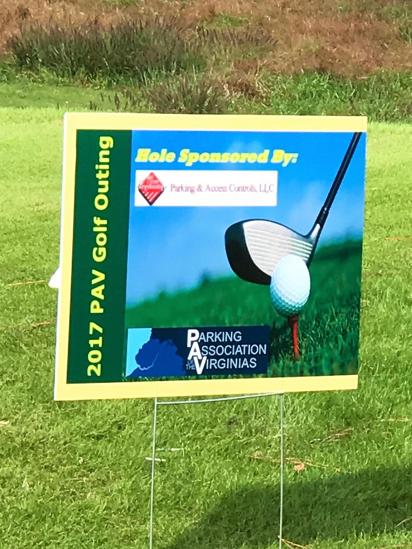 Hole Sponsor Sign
