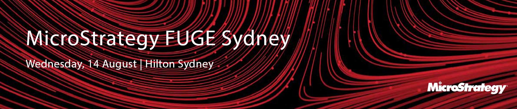 MicroStrategy FUGE Sydney