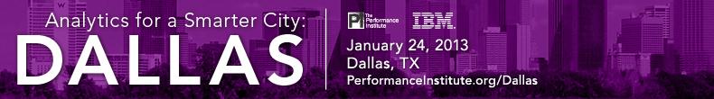 Analytics for a Smarter City: Dallas