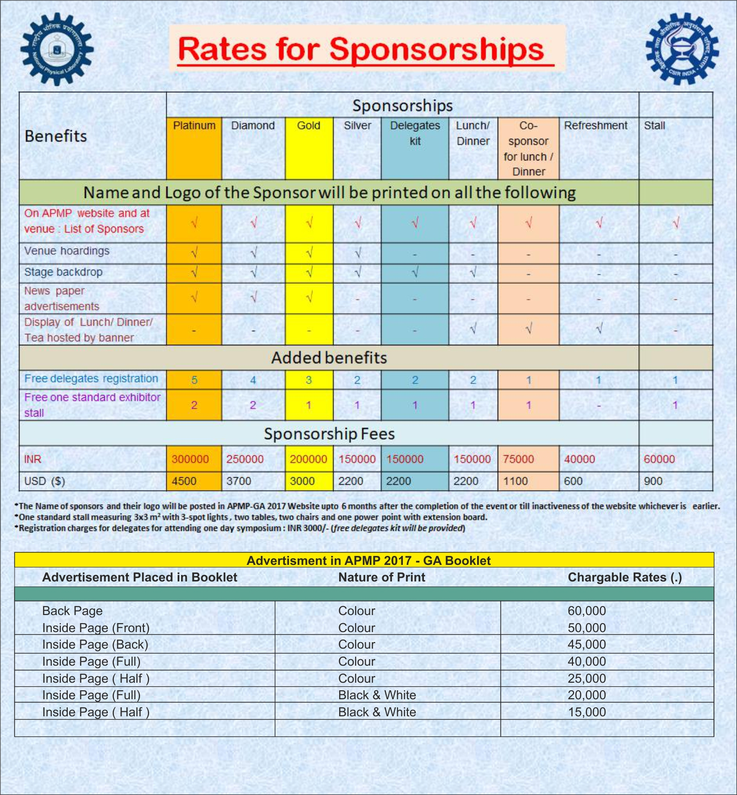 Sponsor Table