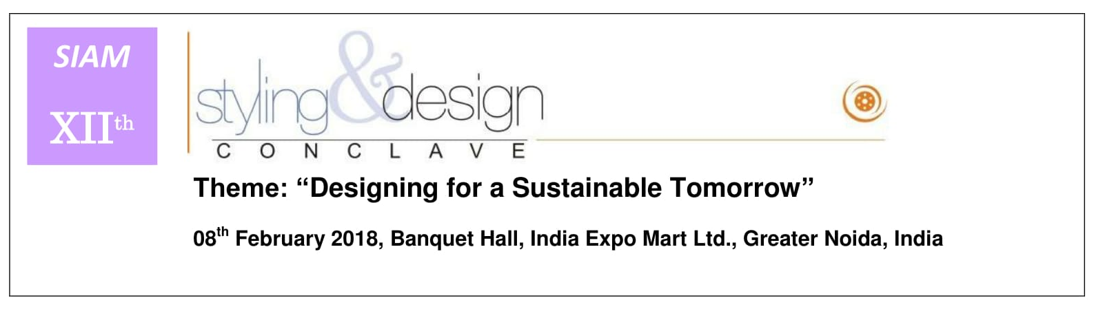 12th SIAM Styling & Design Conclave 2018