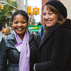 Two NYU alumnae