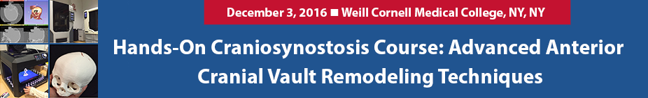 Hands-On Craniosynostosis Course: Advanced Anterior Cranial Vault Remodeling Techniques