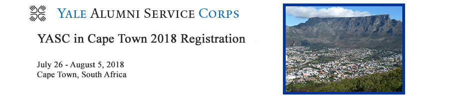 YASC Cape Town 2018 Registration