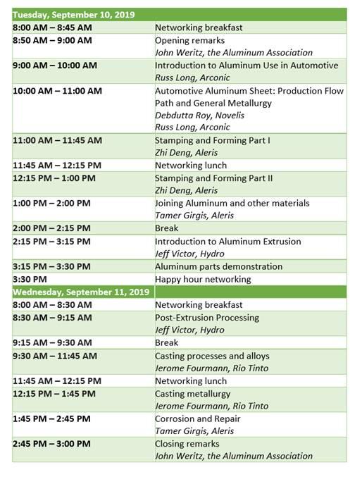 fall design workshop schedule final