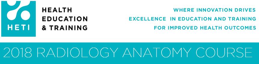 Radiology Anatomy Course 2018