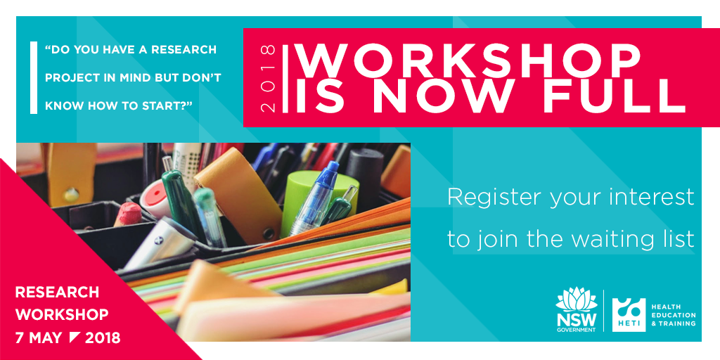 Research workshop is now full - register your interest and join the waitlist
