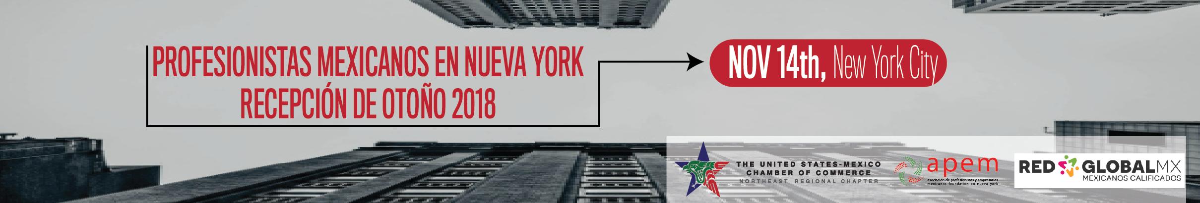 Profesionistas Mexicanos en Nueva York: Recepción de Otoño 2018