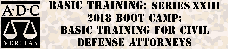 ADC 2018 Basic Training