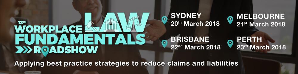 13th Workplace Law Fundamentals Roadshow