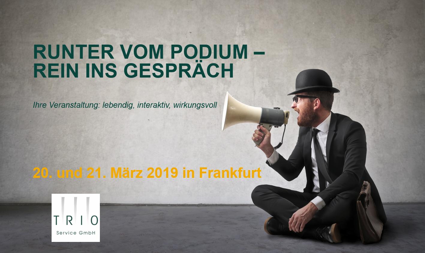 """Lebendige Events: """"Runter vom Podium – rein ins Gespräch"""""""