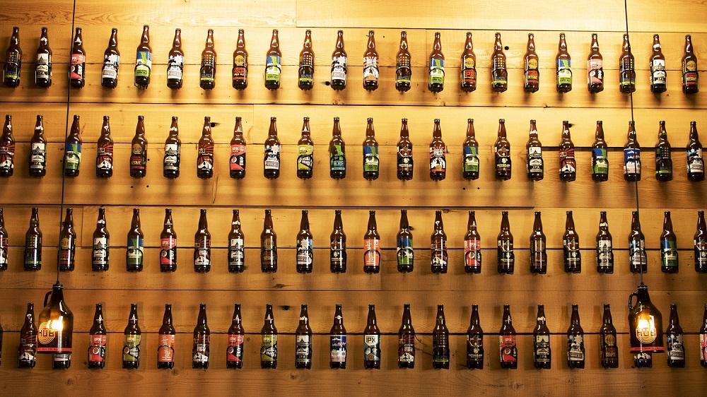 Beer Bottle Wall