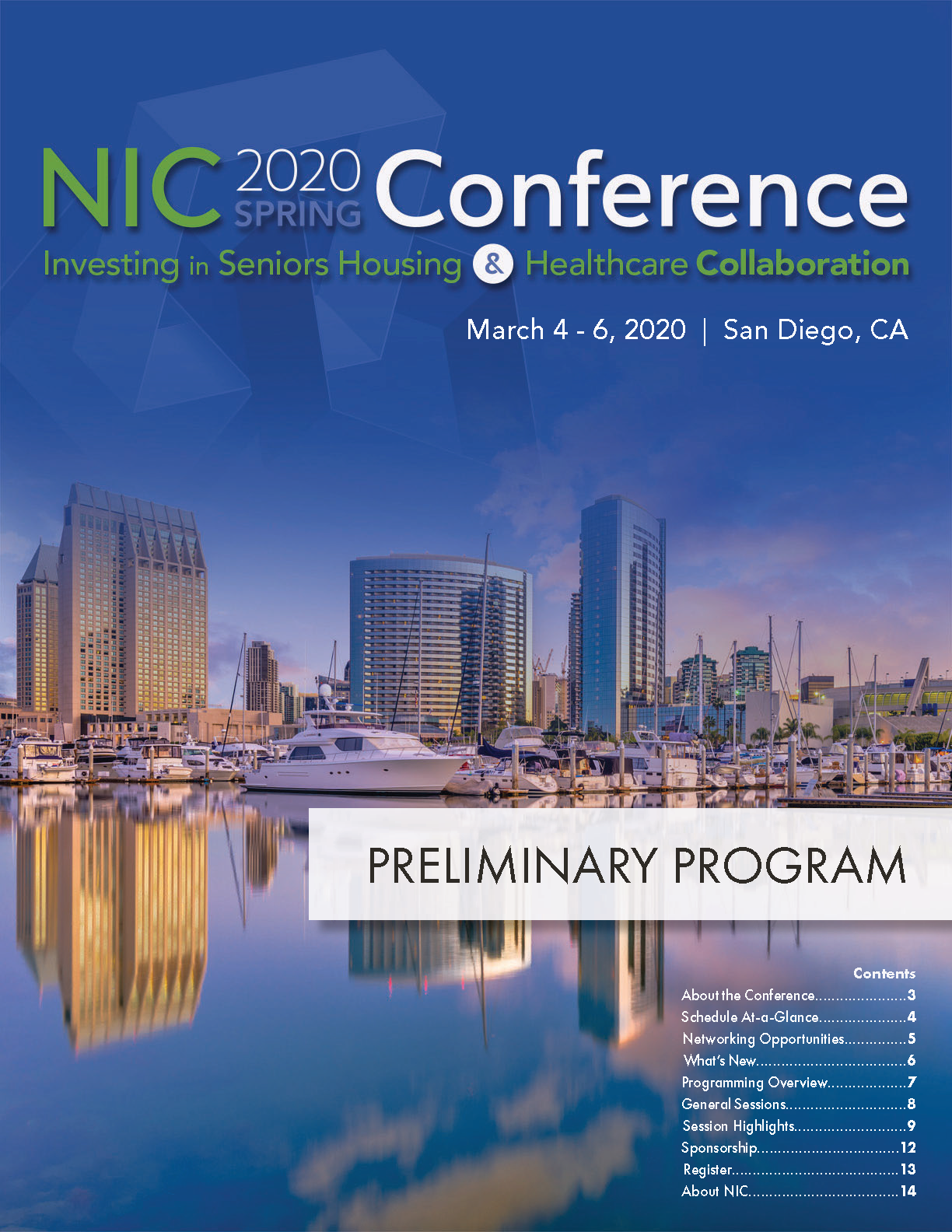 2019 NIC Fall Conference Preliminary Program Cover