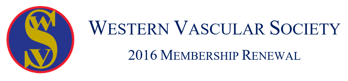 Western Vascular Society 2016 Membership