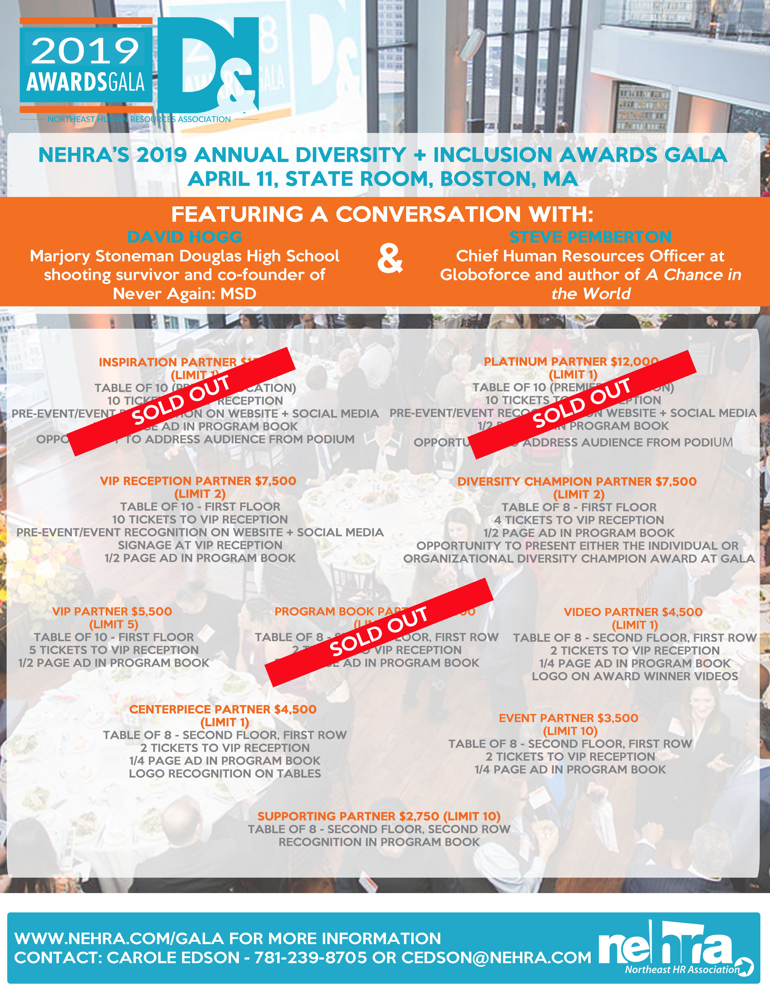 NEHRA's 2019 D&I Gala Sponsorship Flyer